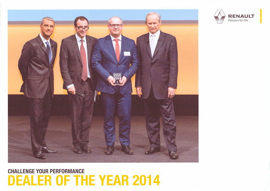 Renault dealer of the Year 2014